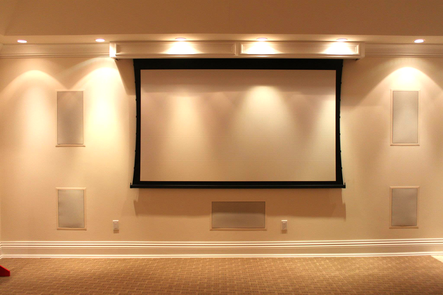 Projection Screen - Home Theater Room