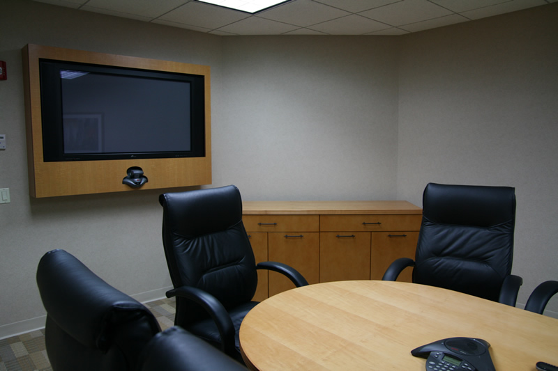 Conference room with Custom Video Conferencing and Plasma Display