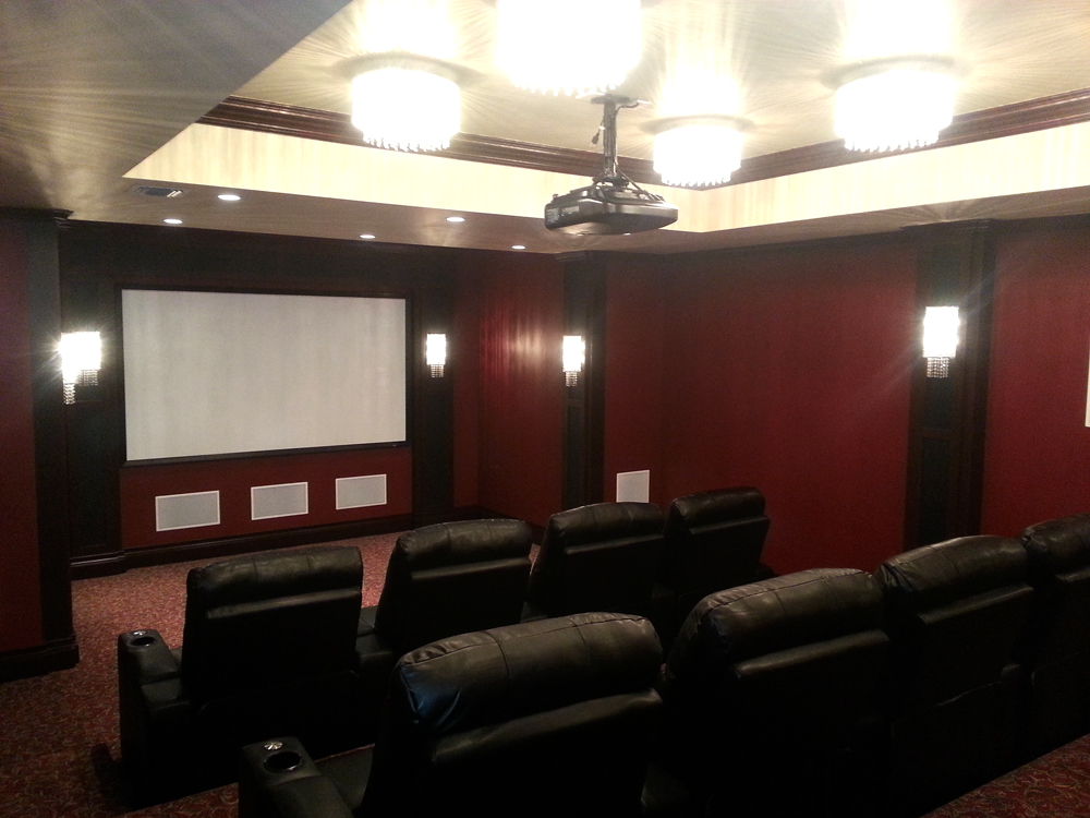 custom home theater system room long island nyc