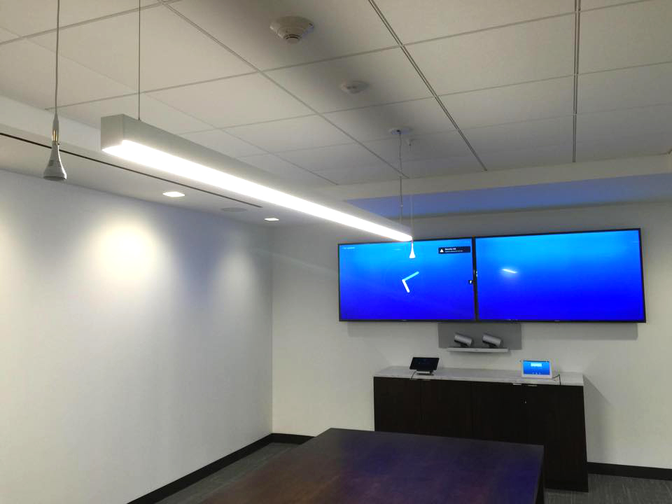 Conference Room - Dual Display and Voice Activated Cameras