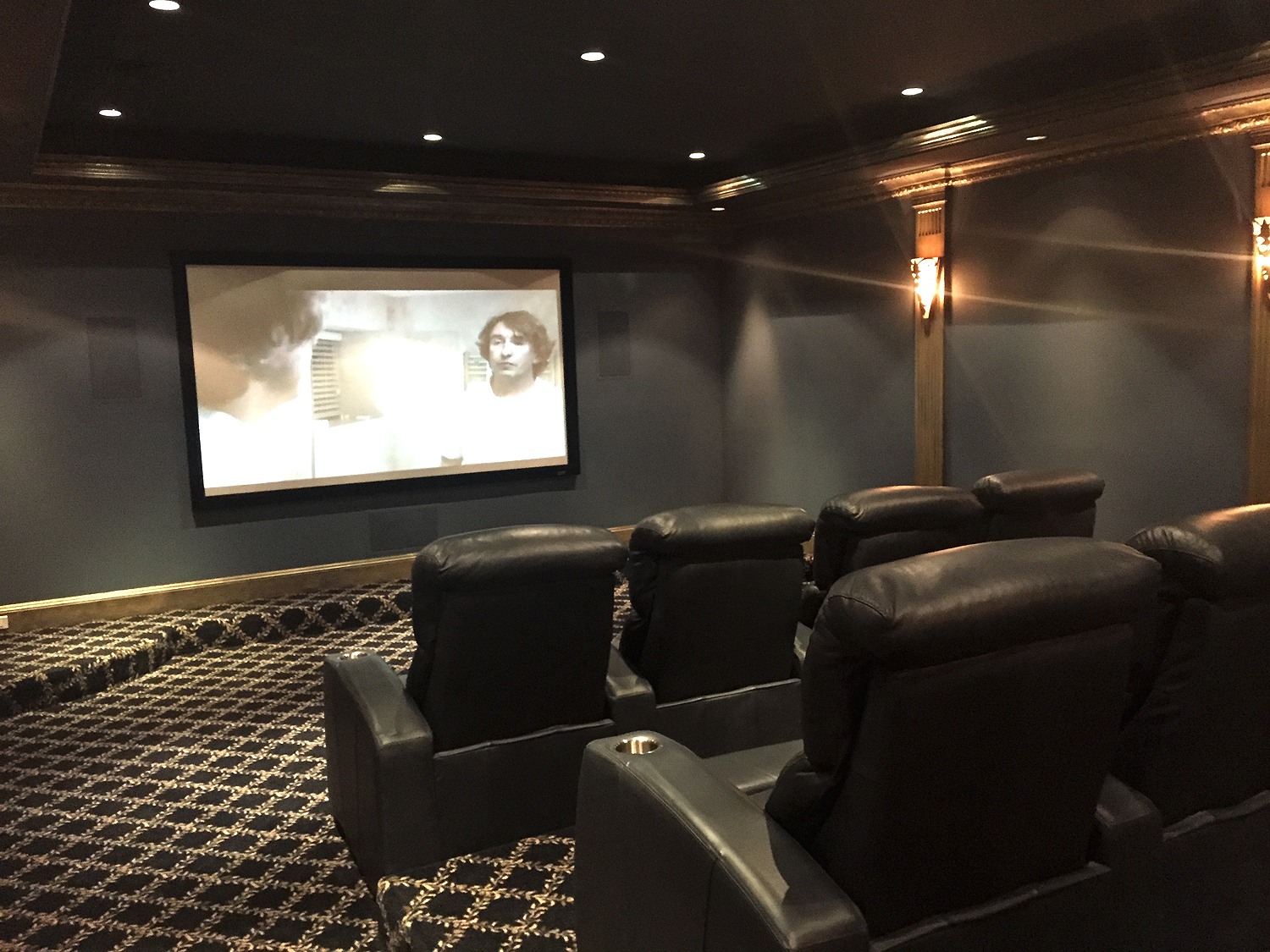 project completion dedicated home theater room avi home automation long island nyc