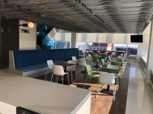 corporate lounge lunch room audio visual