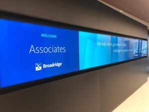 corporate video wall installation
